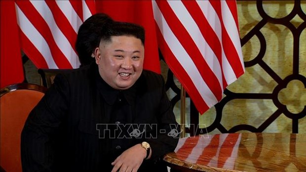 DPRK leader answers question from foreign journalist for first time hinh anh 1