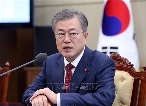 RoK President keeps close watch on DPRK-USA Hanoi Summit Vietnam hinh anh 1