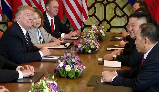 Trump-Kim meetings wrap up earlier than expected hinh anh 1