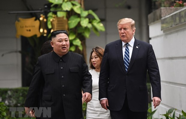 US, DPRK leaders attend expanded meeting hinh anh 1