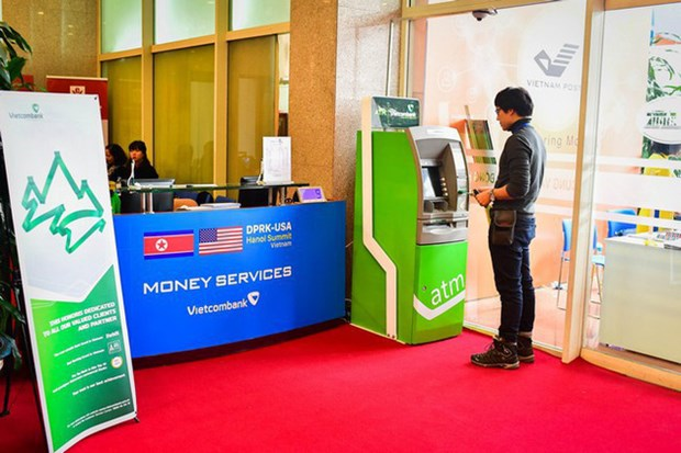 Only Vietcombank provides money exchange service at DPRK-USA Summit hinh anh 1