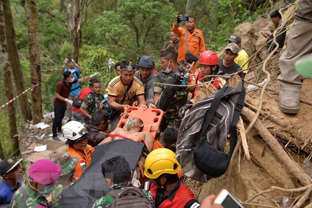Indonesian rescuers use heavy excavators in Sulawesi mine collapse hinh anh 1