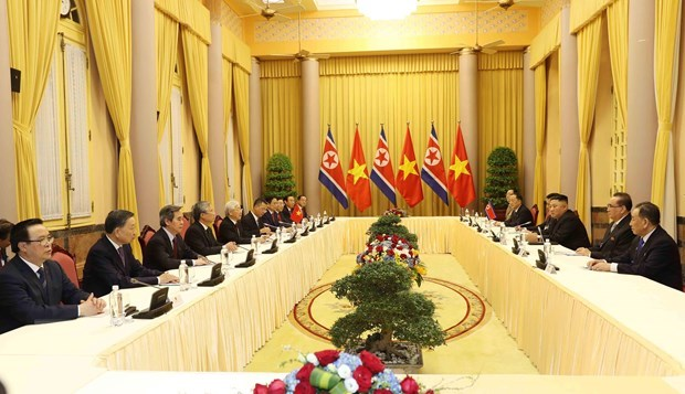 Top Vietnamese leader hails DPRK Chairman's visit hinh anh 1