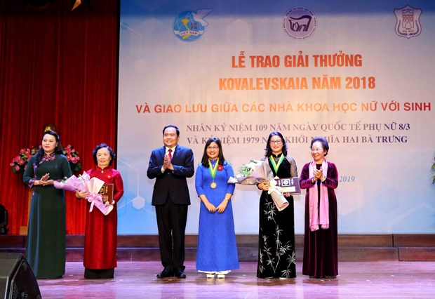 Youngest female scientist to receive Kovalevskaya Award hinh anh 1