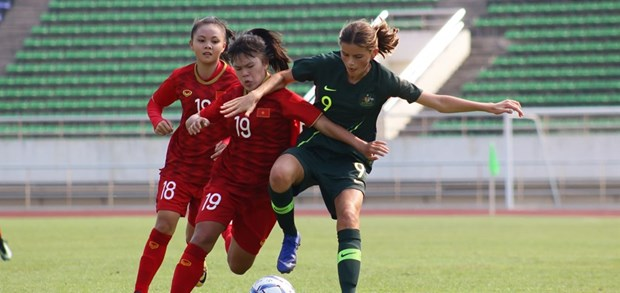 Vietnam lose to Australia in AFC U16 Women's Champs qualifier hinh anh 1