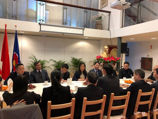 Civil aviation delegation on working trip to Netherlands hinh anh 1
