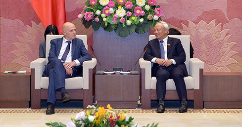 NA Vice Chairman hosts Belgium-Vietnam friendship parliamentarians group hinh anh 1
