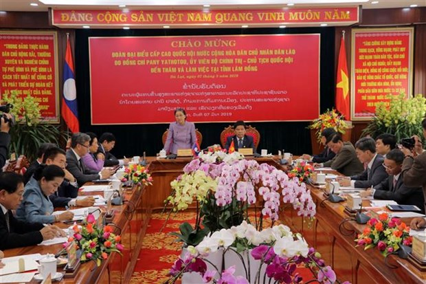 Lao NA Chairwoman visits Lam Dong province hinh anh 1