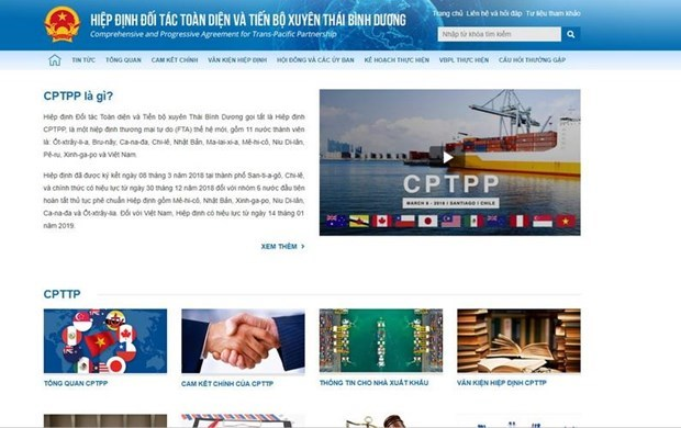 Upgraded website promotes access to CPTPP information hinh anh 1