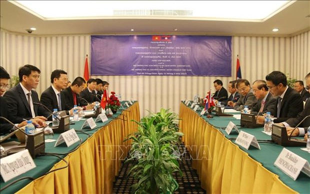 Vietnamese, Lao information ministers discuss enhancing ties hinh anh 1