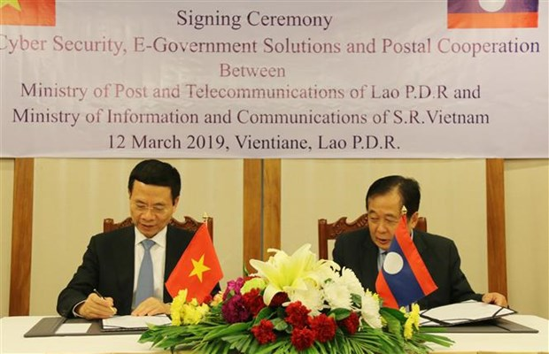 Lao officials appreciate Vietnam-Laos cooperation in information-communication hinh anh 1