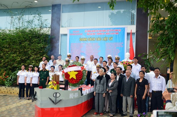 Ceremony commemorates fallen soldiers in Gac Ma battle hinh anh 1
