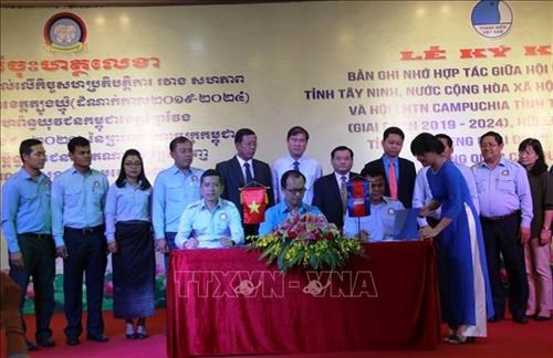 Vietnamese, Cambodian provinces enhance youth's cooperation hinh anh 1