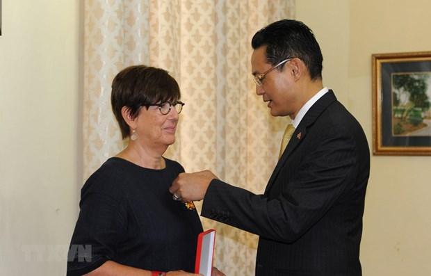 Former Belgian Ambassador to Vietnam honoured with Friendship Order hinh anh 1