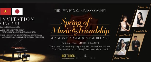 Vietnam-Japan Friendship Concert to take place in Hanoi hinh anh 1