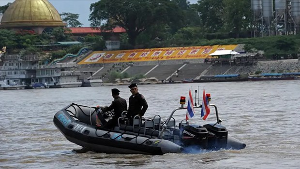 Four countries launch 80th joint patrol on Mekong River hinh anh 1