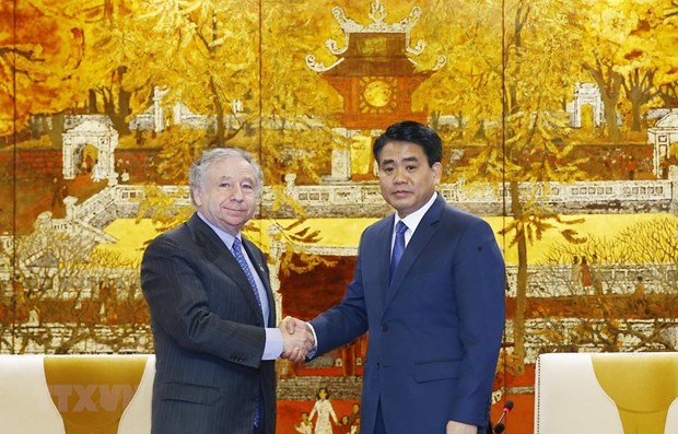 Hanoi leader thanks FIA President for helping with F1 race hinh anh 1