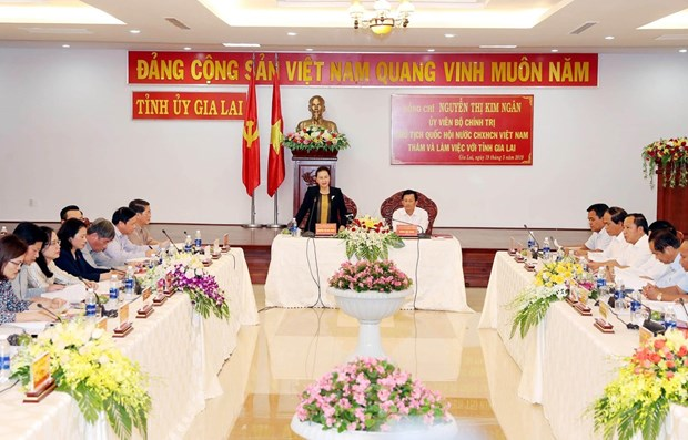 NA leader hails Gia Lai for socio-economic performance in 2018 hinh anh 1