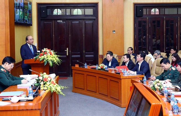 Conference reviews 10-year building of defence zones hinh anh 1