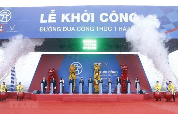 Work begins on F1 racetrack in Hanoi hinh anh 1
