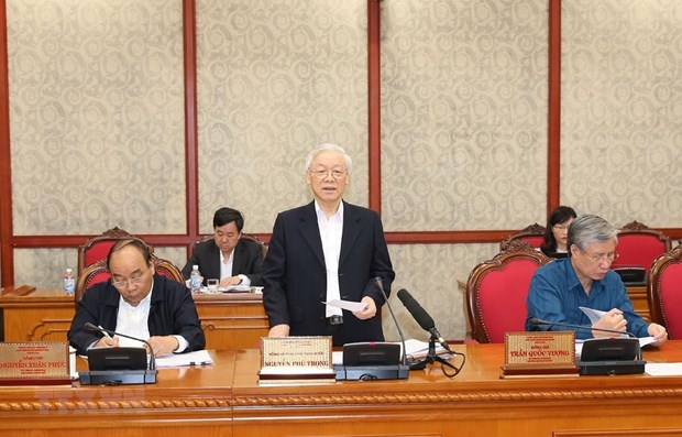 Party leader applauds progress in Party building work hinh anh 1