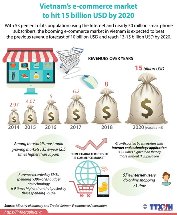Revenues from e-commerce likely to hit 15 billion USD in 2020 hinh anh 1