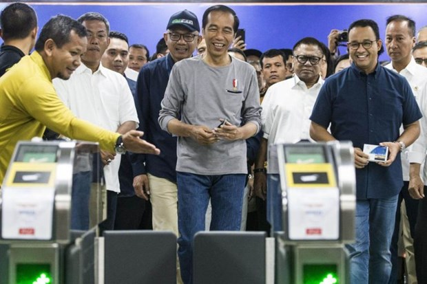 Indonesia inaugurates first MRT in Jakarta hinh anh 1