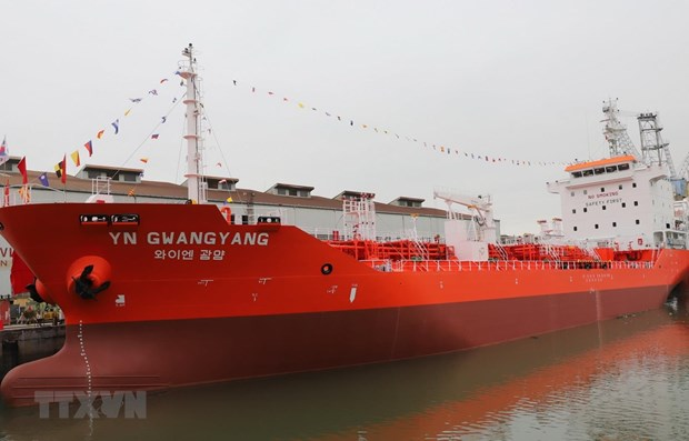 6,500-tonne oil tanker delivered to RoK hinh anh 1