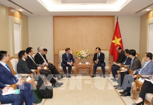 Deputy PM receives Australian energy firm representative hinh anh 1