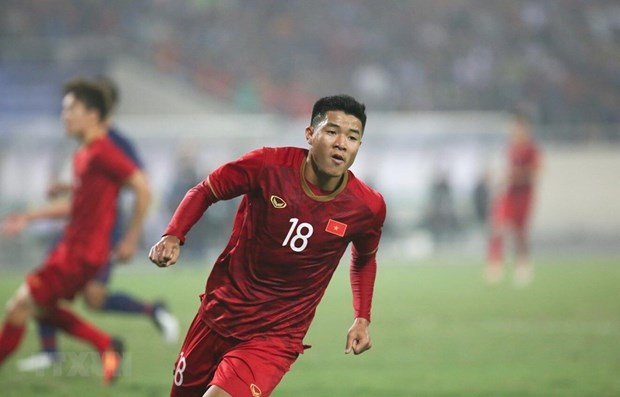 Vietnam beat Thailand 4-0, advancing to AFC U23 champ final round hinh anh 1