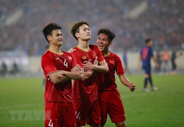 Int'l media hail Vietnam's victory over Thailand in AFC U23 champs hinh anh 1
