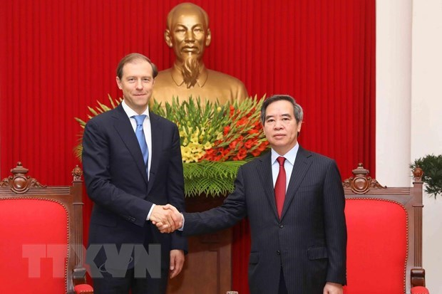 Party official welcomes Russian Minister of Industry and Trade hinh anh 1