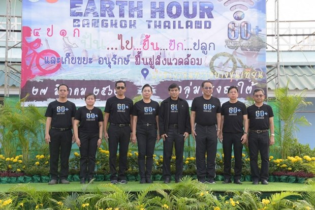 Bangkok promotes restoring mangrove forest on Earth Hour hinh anh 1