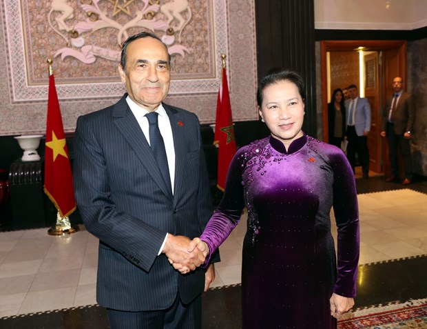 NA Chairwoman, Moroccan House Speaker hold talks hinh anh 1