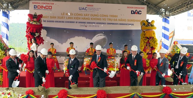 Construction of first aerospace component factory started hinh anh 1