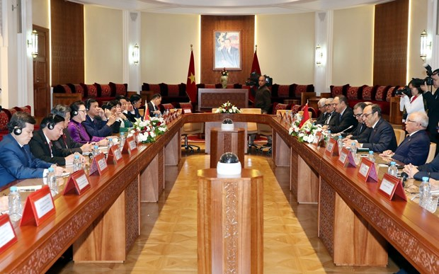 Vietnam, Morocco sign deals to boost environmental, trade, industrial ties hinh anh 1