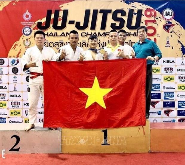 Vietnam wins gold medal at Ju-Jitsu Thailand Open hinh anh 1