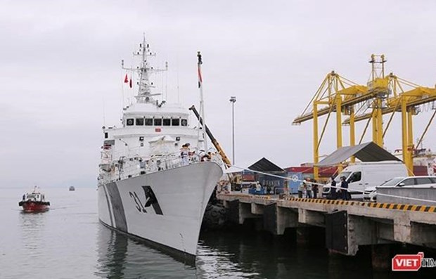 Indian coast guard ship visits Da Nang hinh anh 1