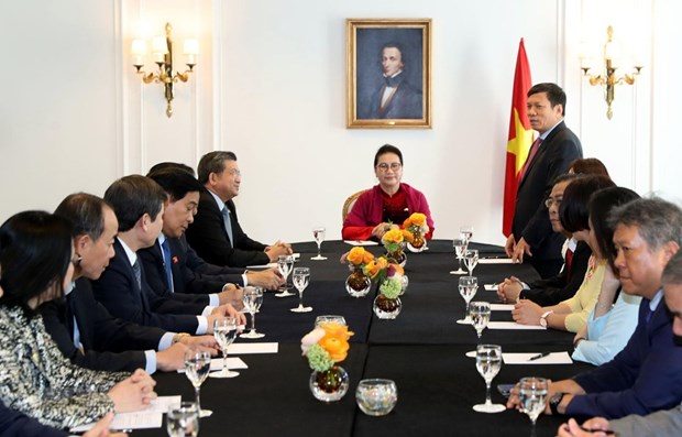 NA Chairwoman meets leaders of Vietnamese associations in Europe hinh anh 1