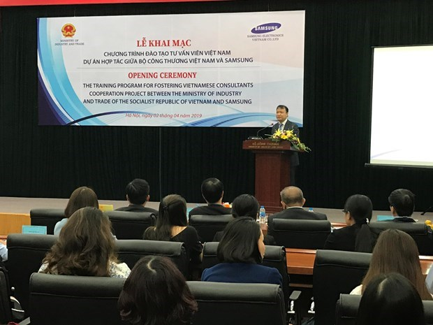 Samsung helps train Vietnamese consultants in support industry hinh anh 1