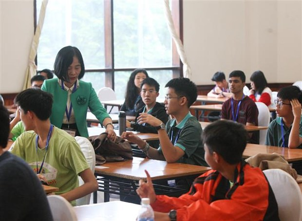 Mathematics competition kicks off in Hanoi hinh anh 1