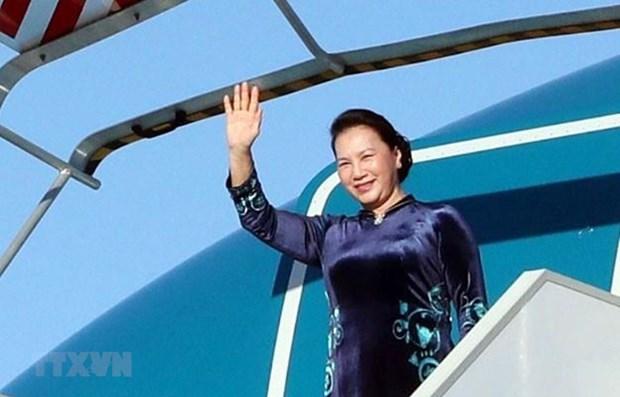 NA Chairwoman begins working trip to European Parliament hinh anh 1