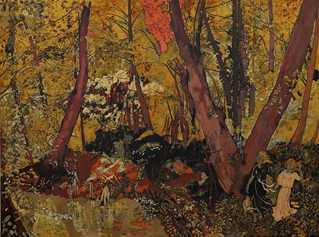 Vietnamese-style lacquer paintings auctioned at Sotheby's Hong Kong hinh anh 1