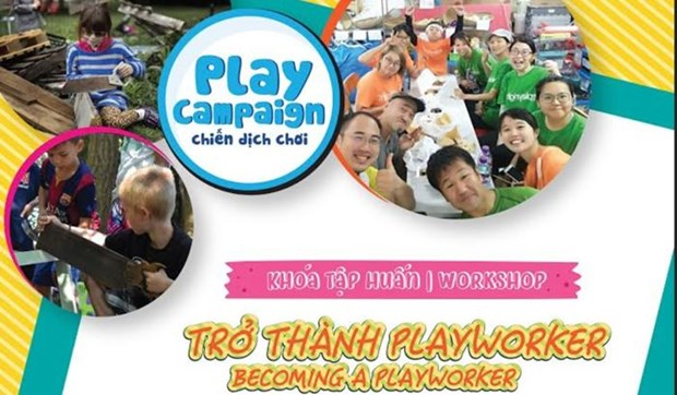 Training course on adventure playground for children held in Hanoi hinh anh 1
