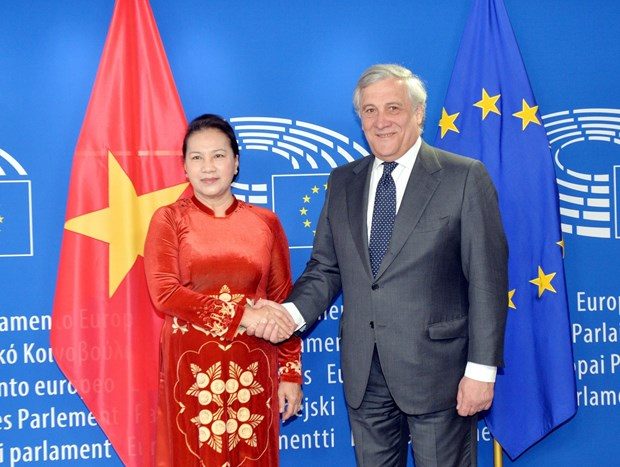 NA leader holds talks with EP President hinh anh 1