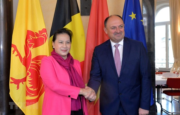 NA Chairwoman meets Wallonia Minister-President hinh anh 1