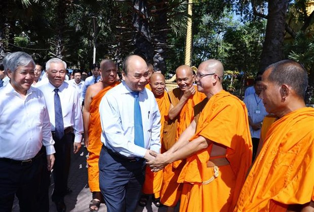 PM extends Chol Chnam Thmay wishes to Khmer people in Soc Trang hinh anh 1
