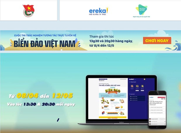 Online quizzes on Vietnamese sea, island knowledge launched in Hanoi hinh anh 1
