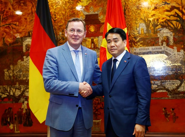 Hanoi boosts cooperation with German locality hinh anh 1