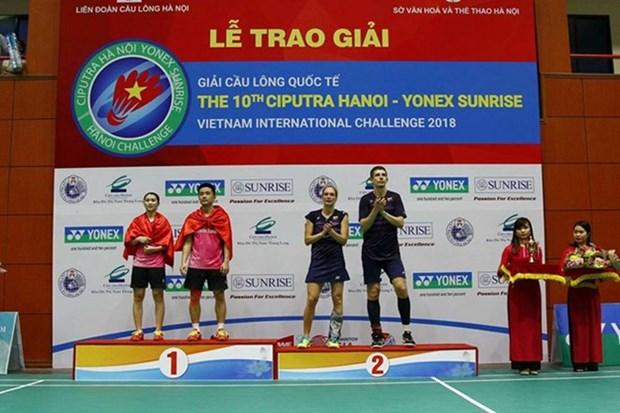 Ciputra Hanoi- Yonex Sunrise VN International Challenge kicks off hinh anh 1